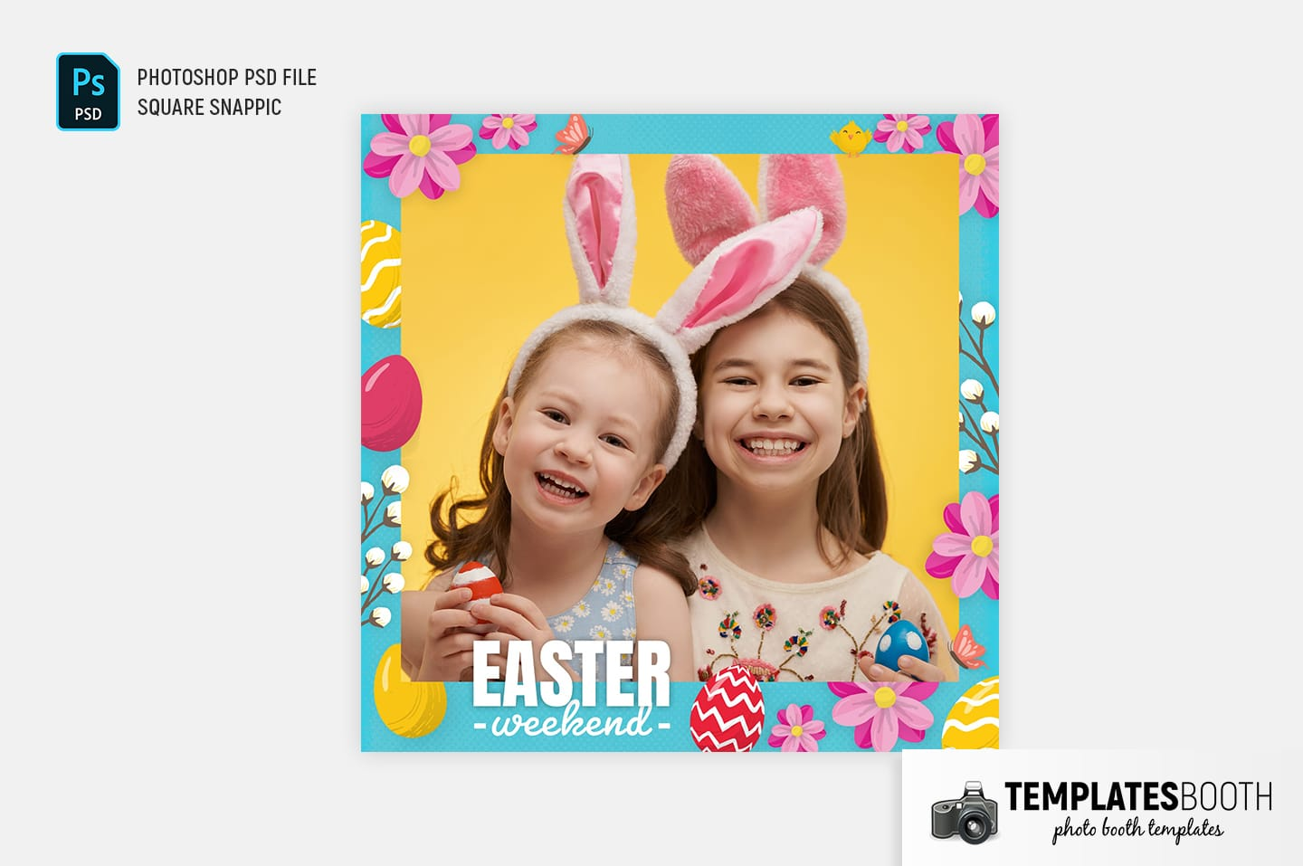 Easter Photo Booth Template (Snappic)