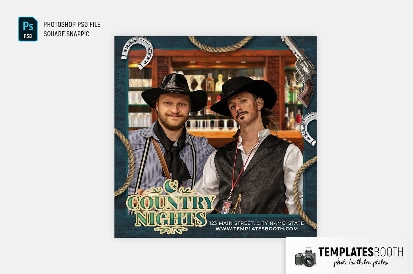 Country Nights Photo Booth Template (Snappic)