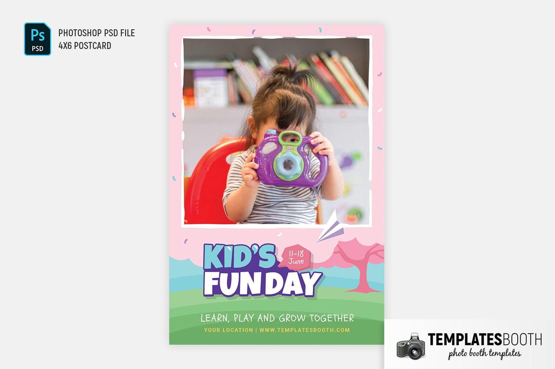 Kid's Fun Day Photo Booth Template