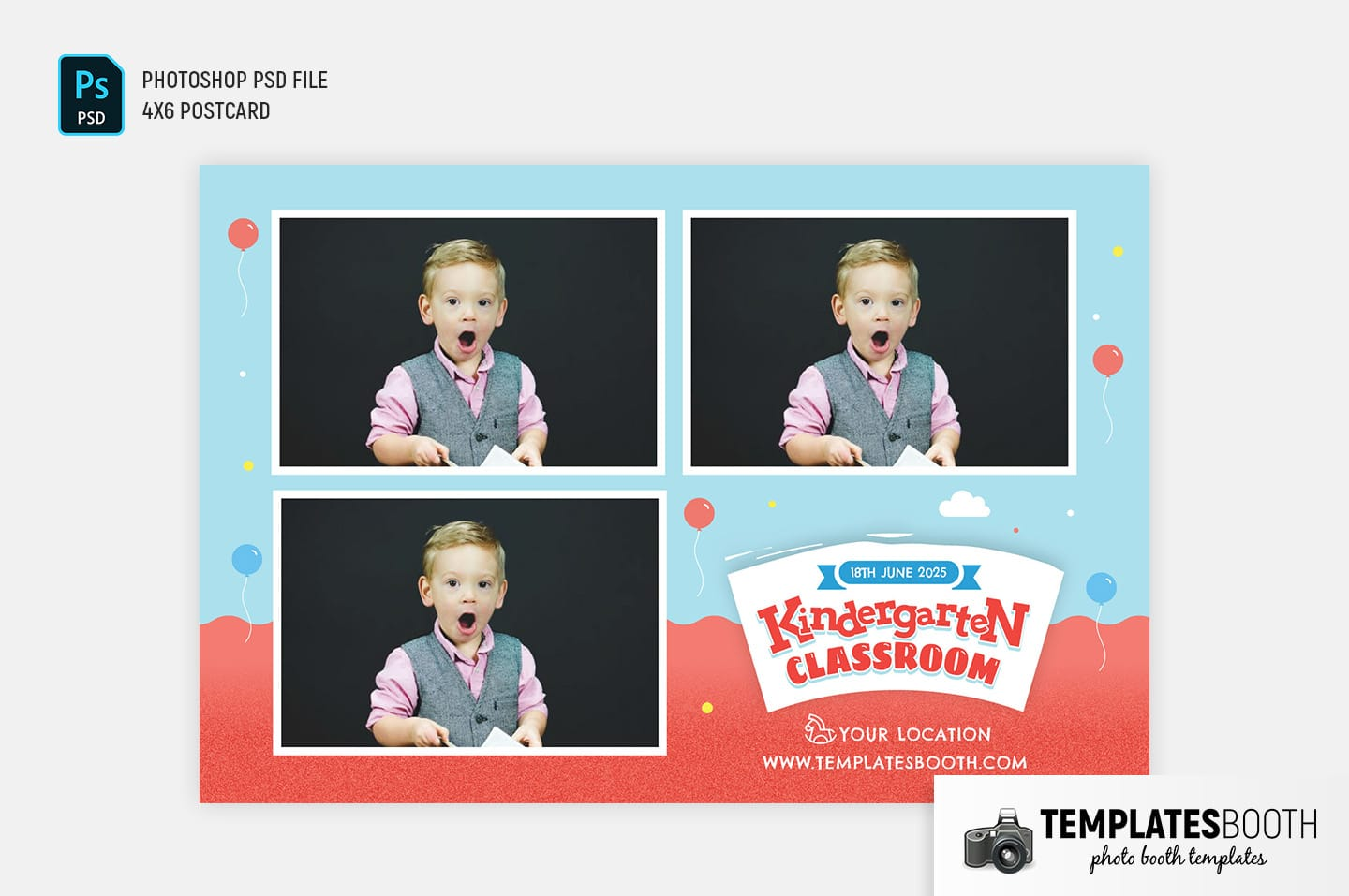 Kindergarten Photo Booth Template