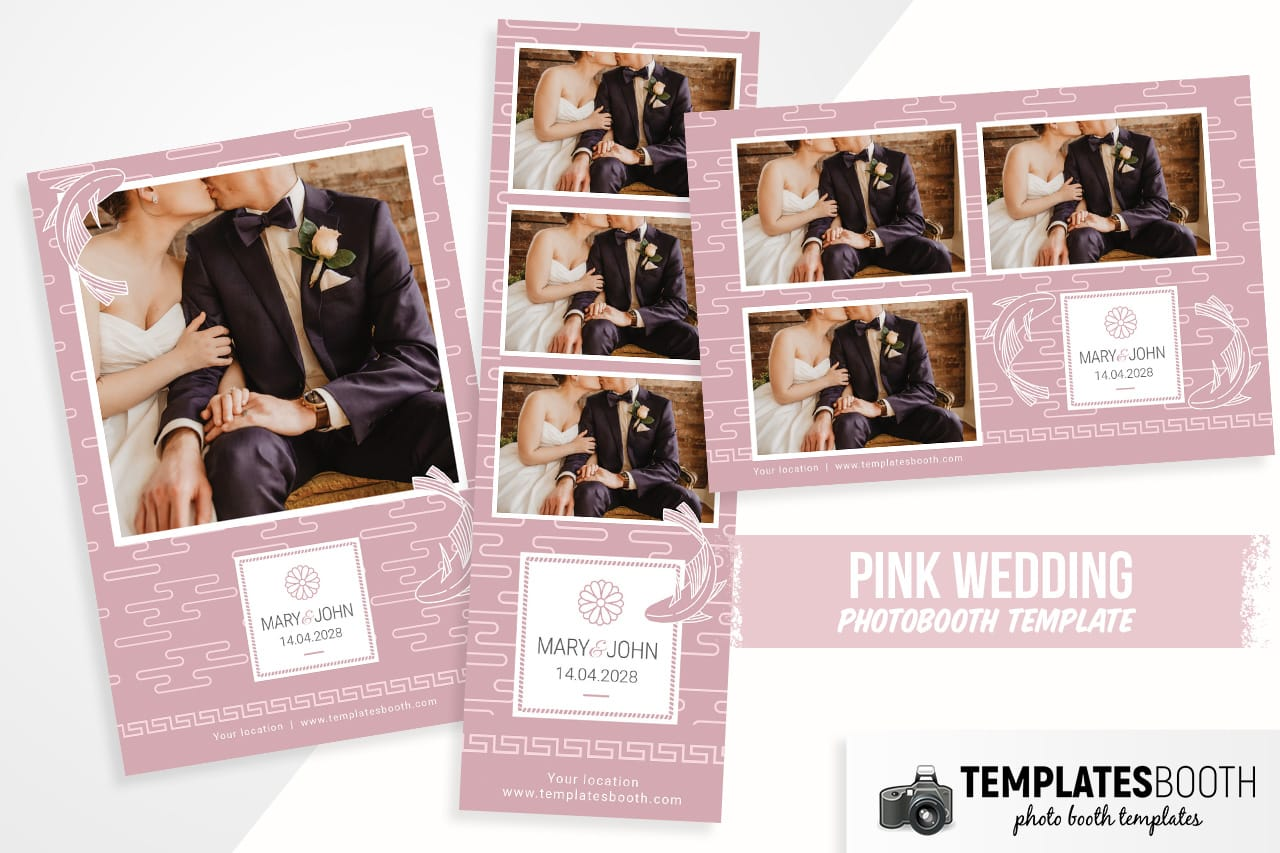Pink Wedding Photo Booth Template