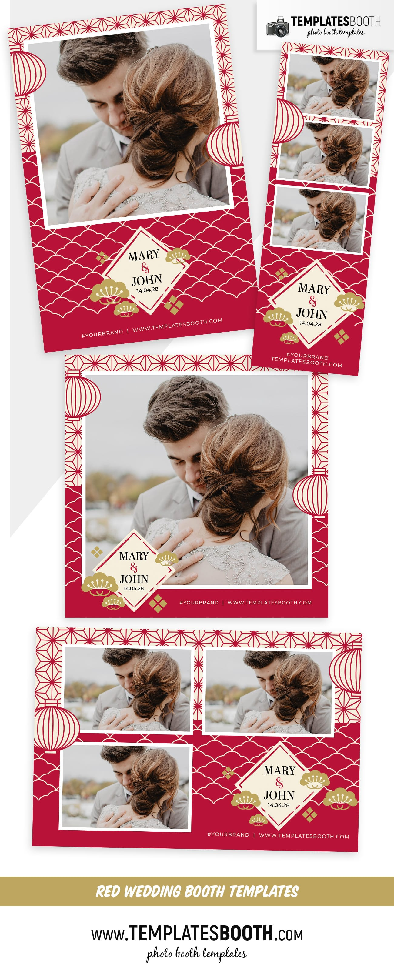 Chinese Wedding Photo Booth Template (full preview)