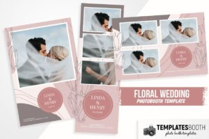 Floral Wedding Photo Booth Template