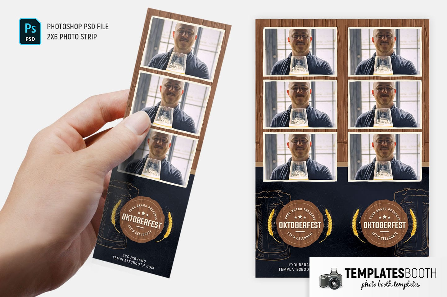 Oktoberfest Photo Booth Template (2x6 photo strip)