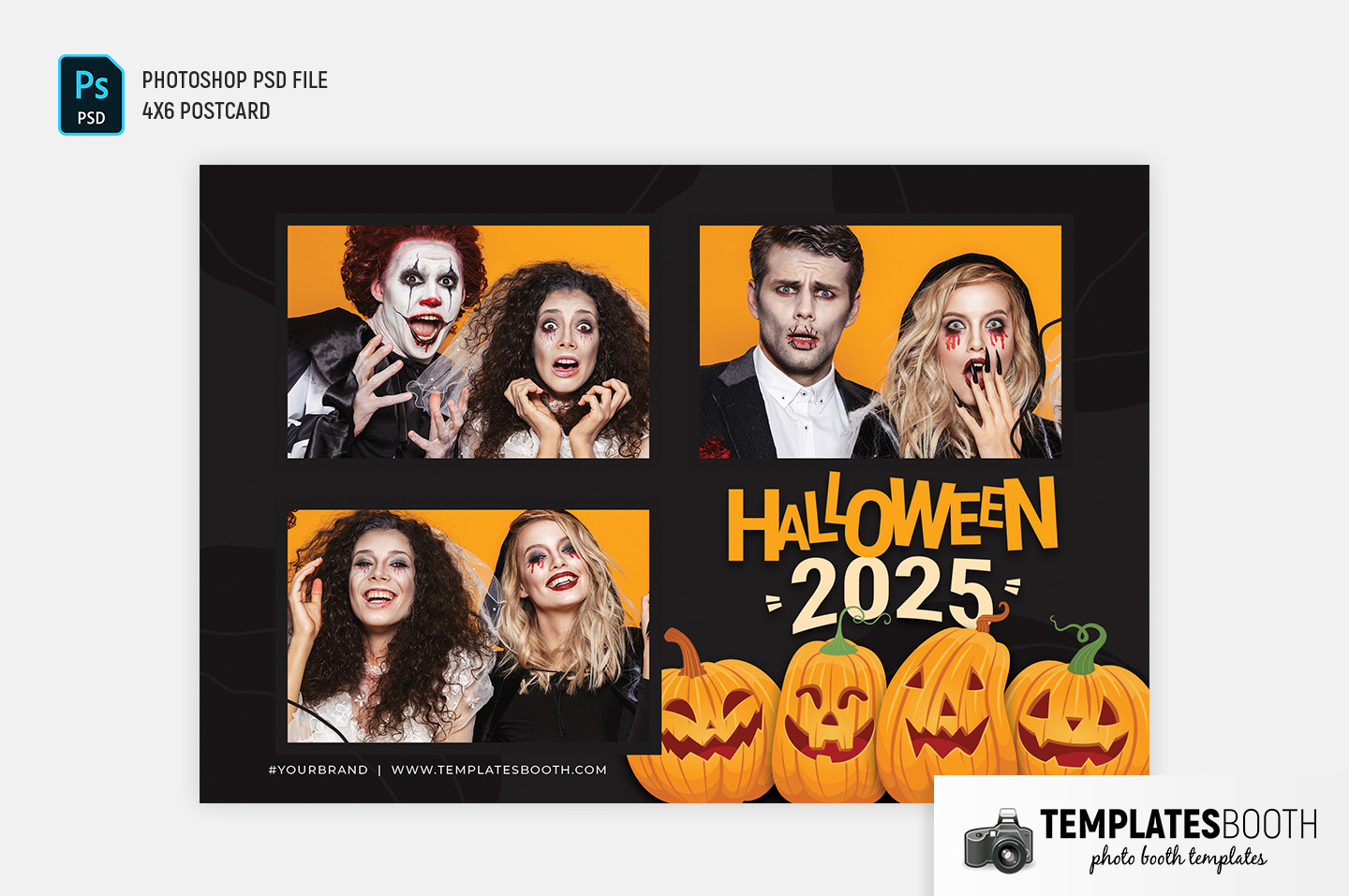 Halloween Photo Booth Template (4x6 Landscape)