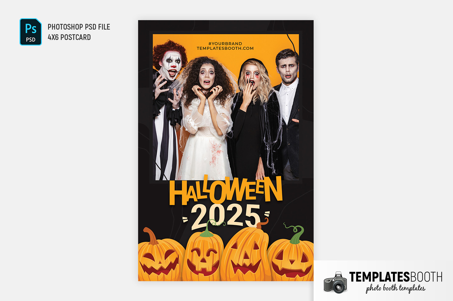 Halloween Photo Booth Template (4x6 Portrait)