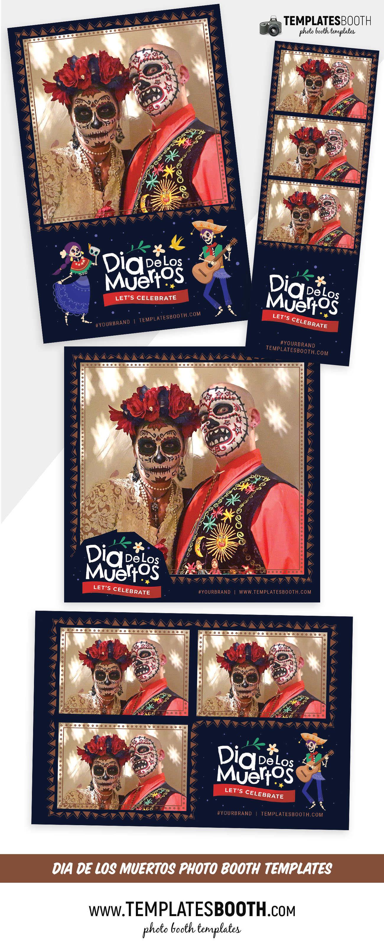 Day of The Dead Photo Booth Template (full preview)