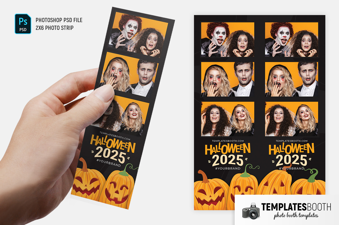Halloween Photo Booth Template (2x6 Photo Strip)