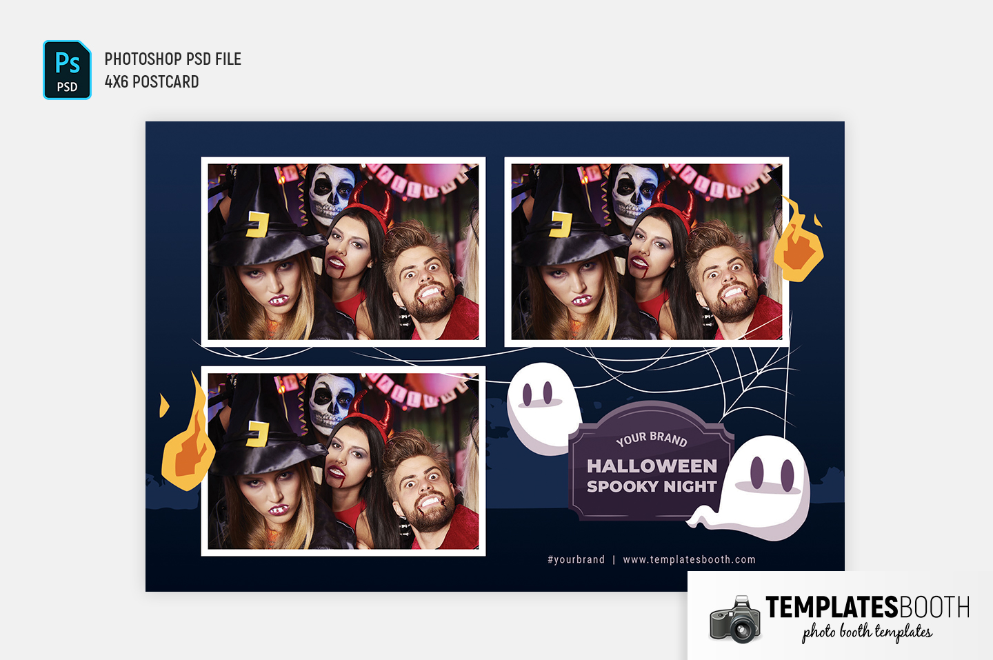 Halloween Spooky Night Photo Booth Template (4x6 landscape)