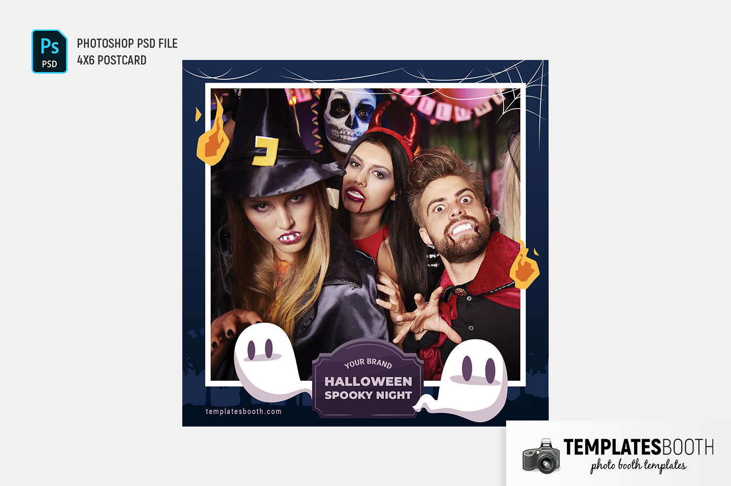 Halloween Spooky Night Photo Booth Template (Snappic)