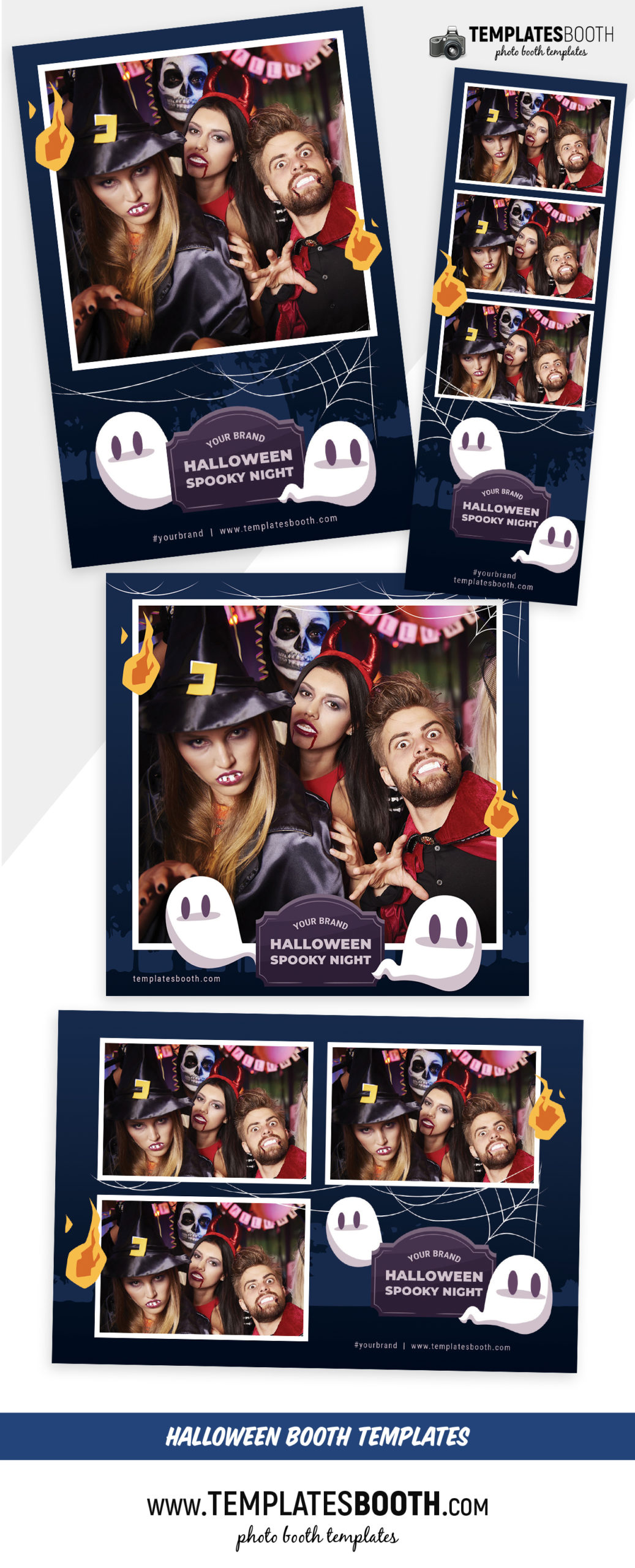 Halloween Spooky Night Photo Booth Template (full preview)