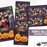 Purple Halloween Photo Booth Template