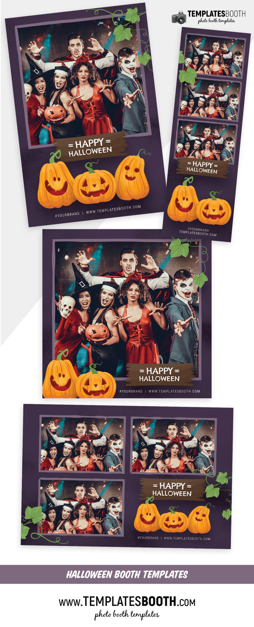 Purple Halloween Photo Booth Template (Full Preview)