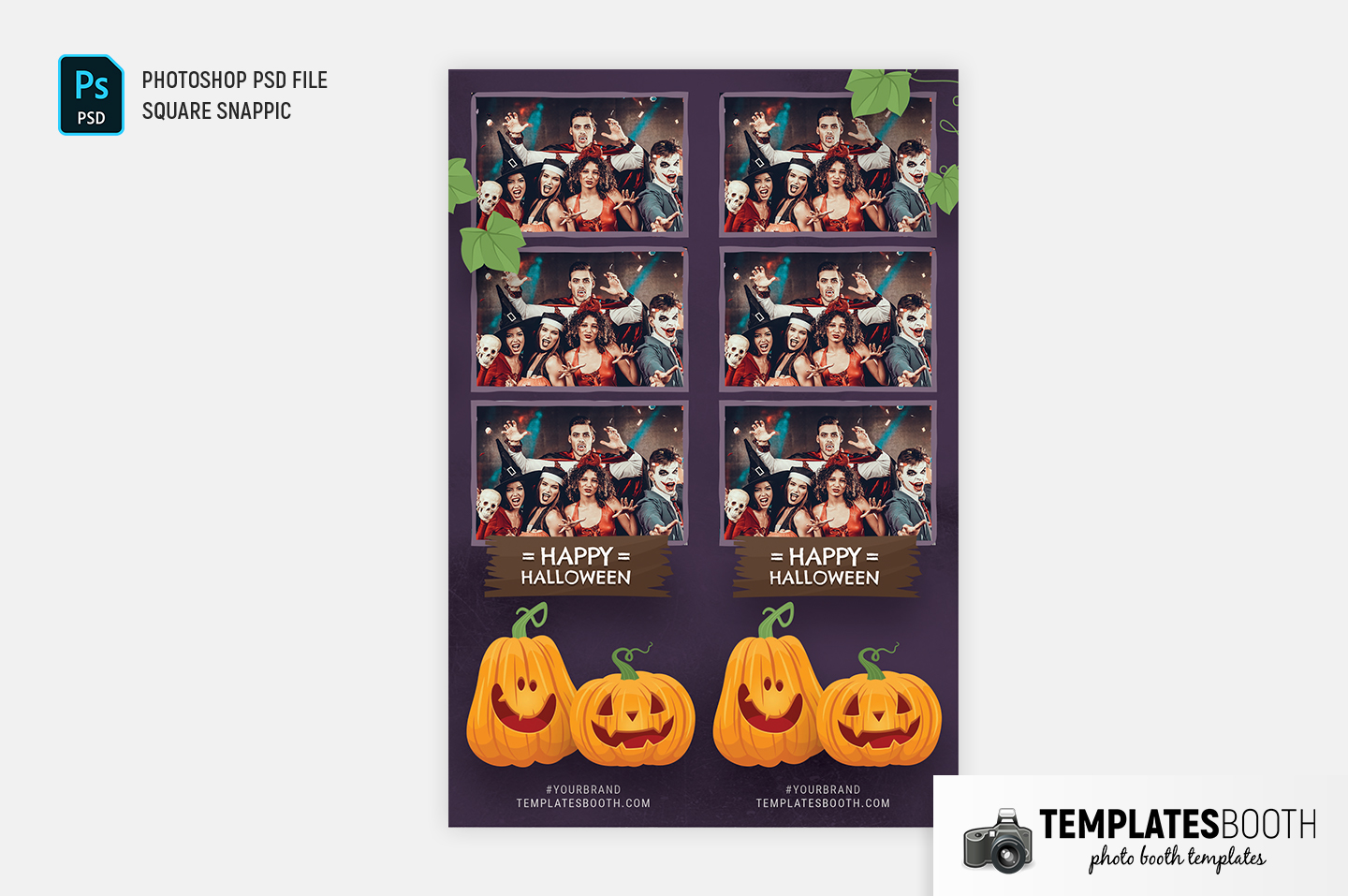 Purple Halloween Photo Booth Template (Snappic)