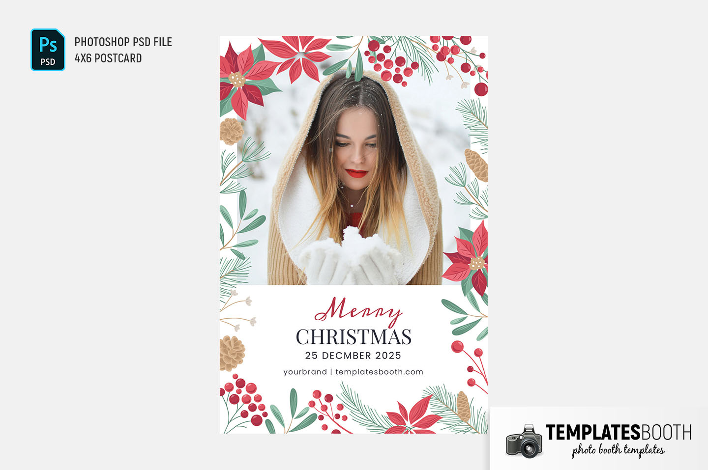 Elegant Christmas Photo Booth Template
