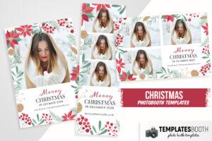 Elegant Christmas Photo Booth Template
