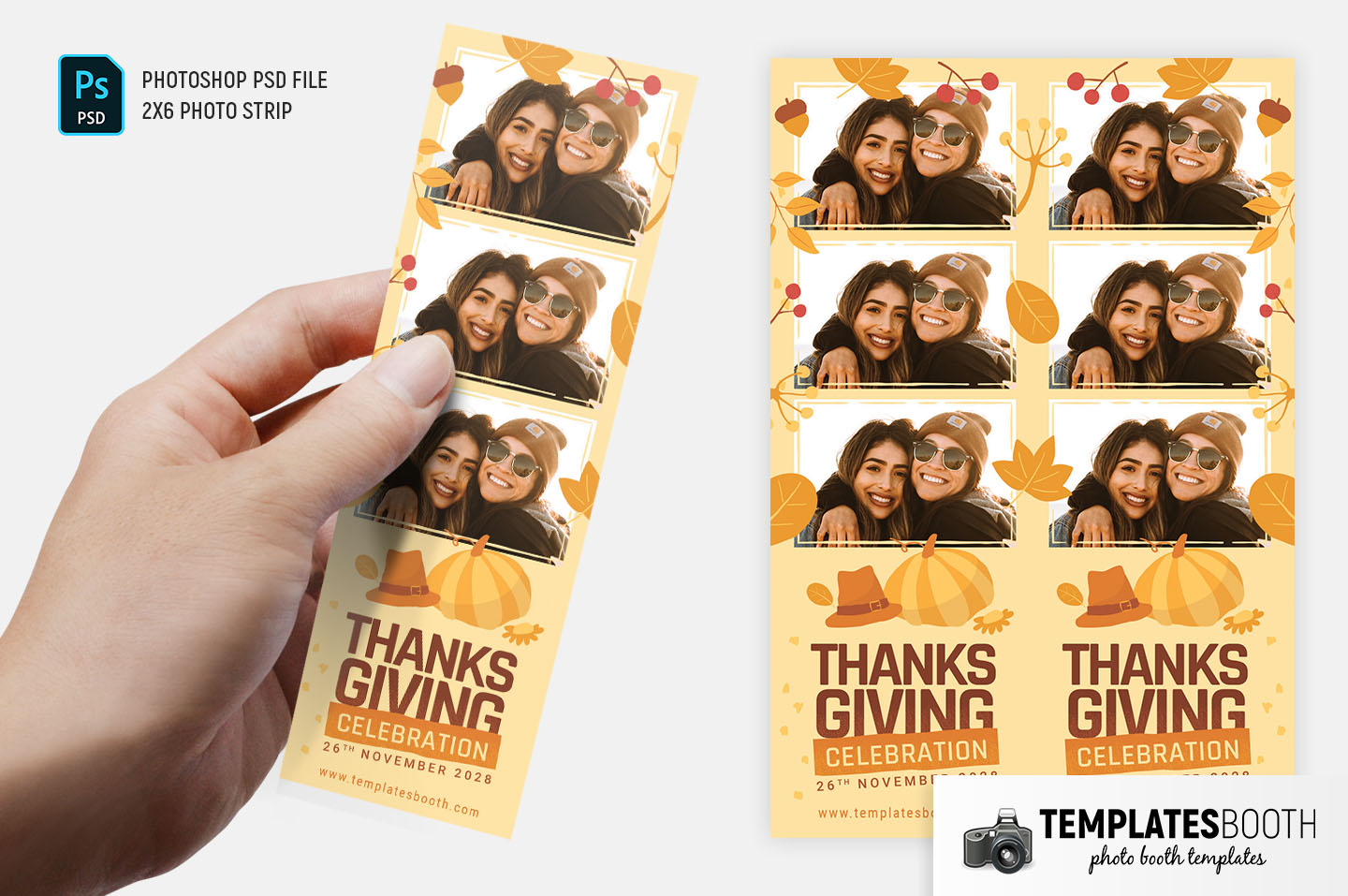 Thanksgiving Photo Booth Template