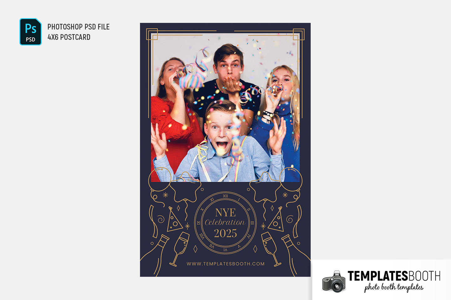 Ornate New Year's Eve Photo Booth Template