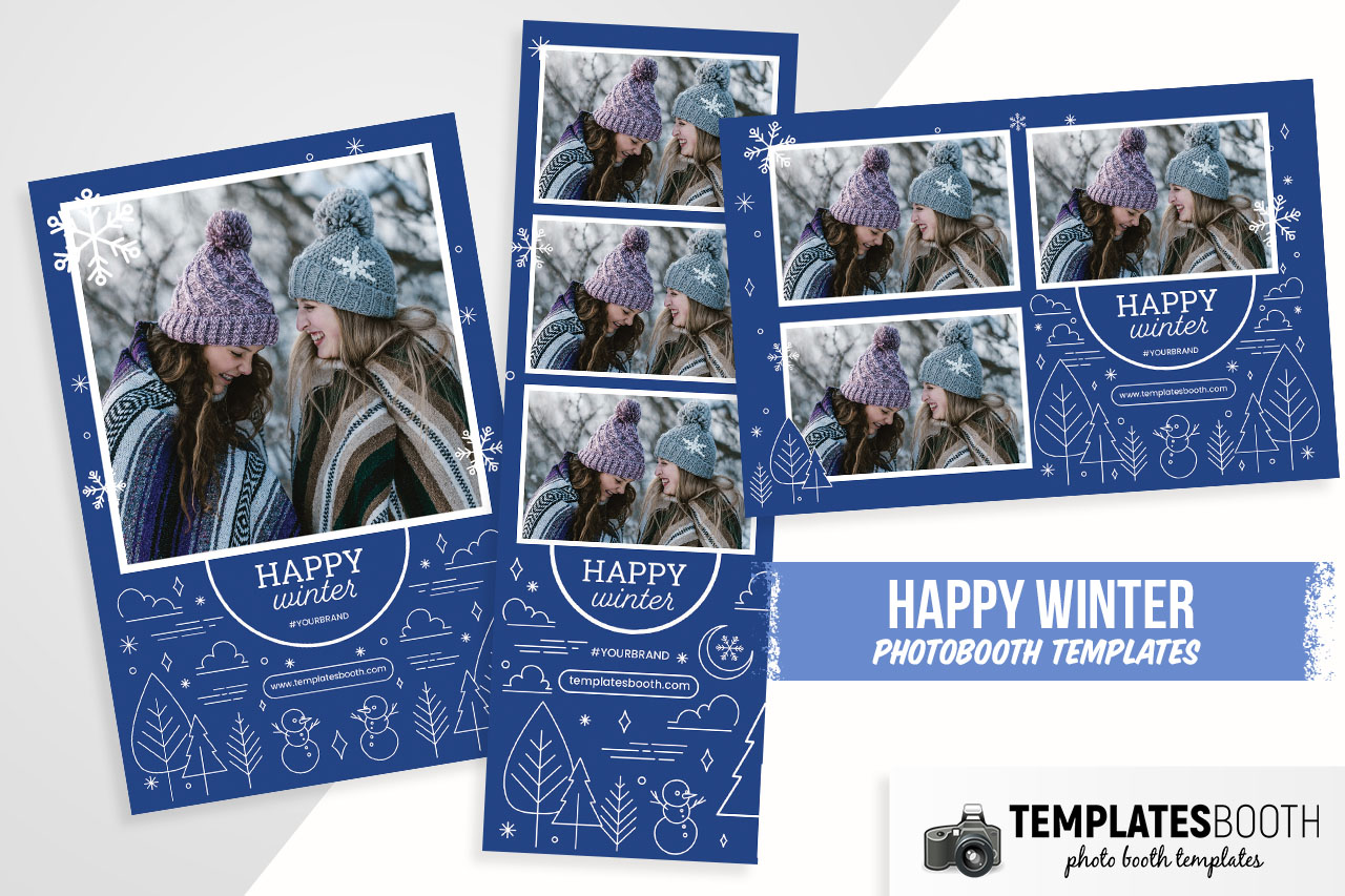 Ornate Winter Photo Booth Template