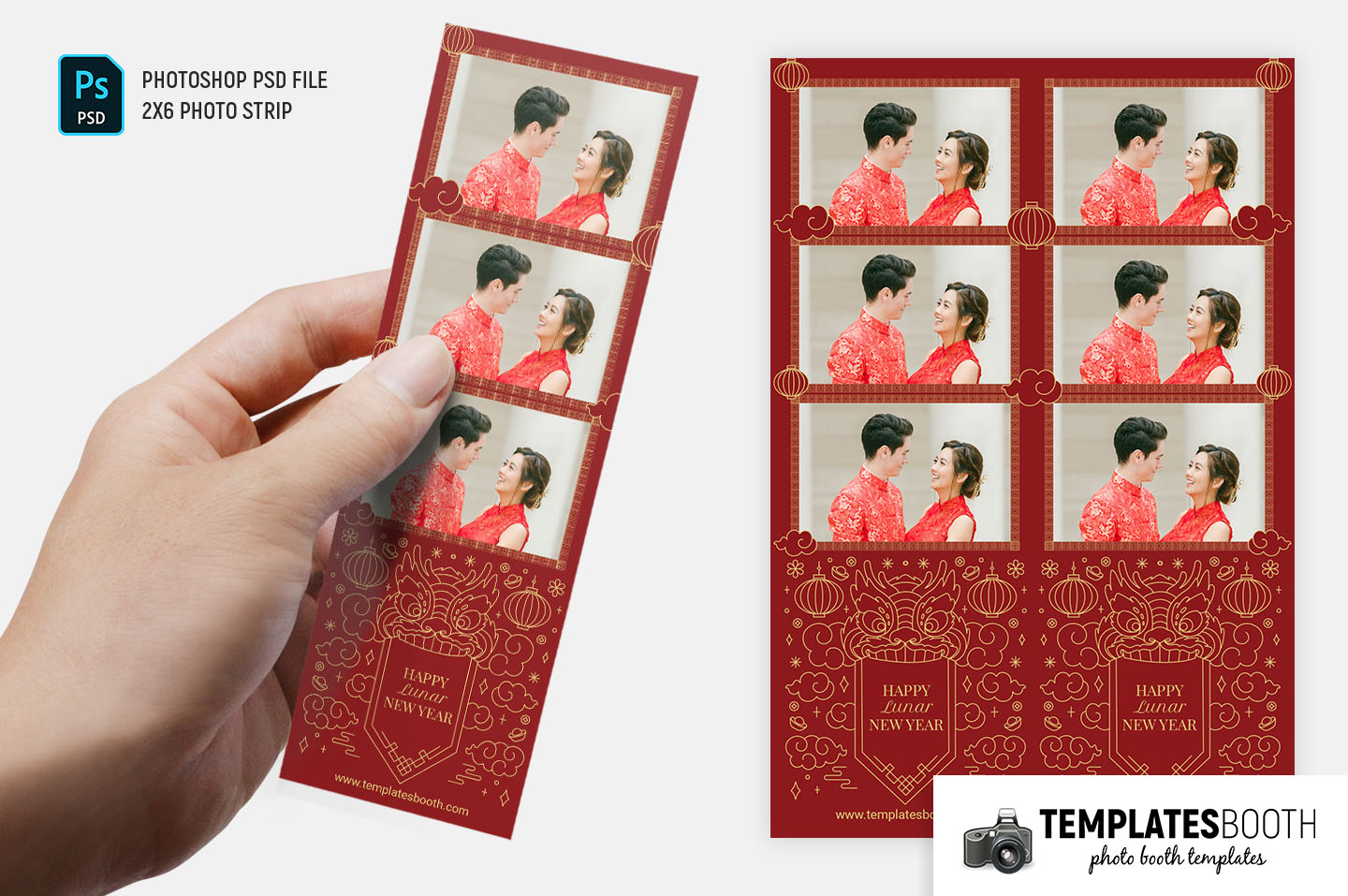 Chinese New Year Photo Booth Template