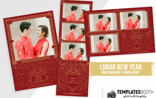 Chinese New Year Wedding Photo Booth Template
