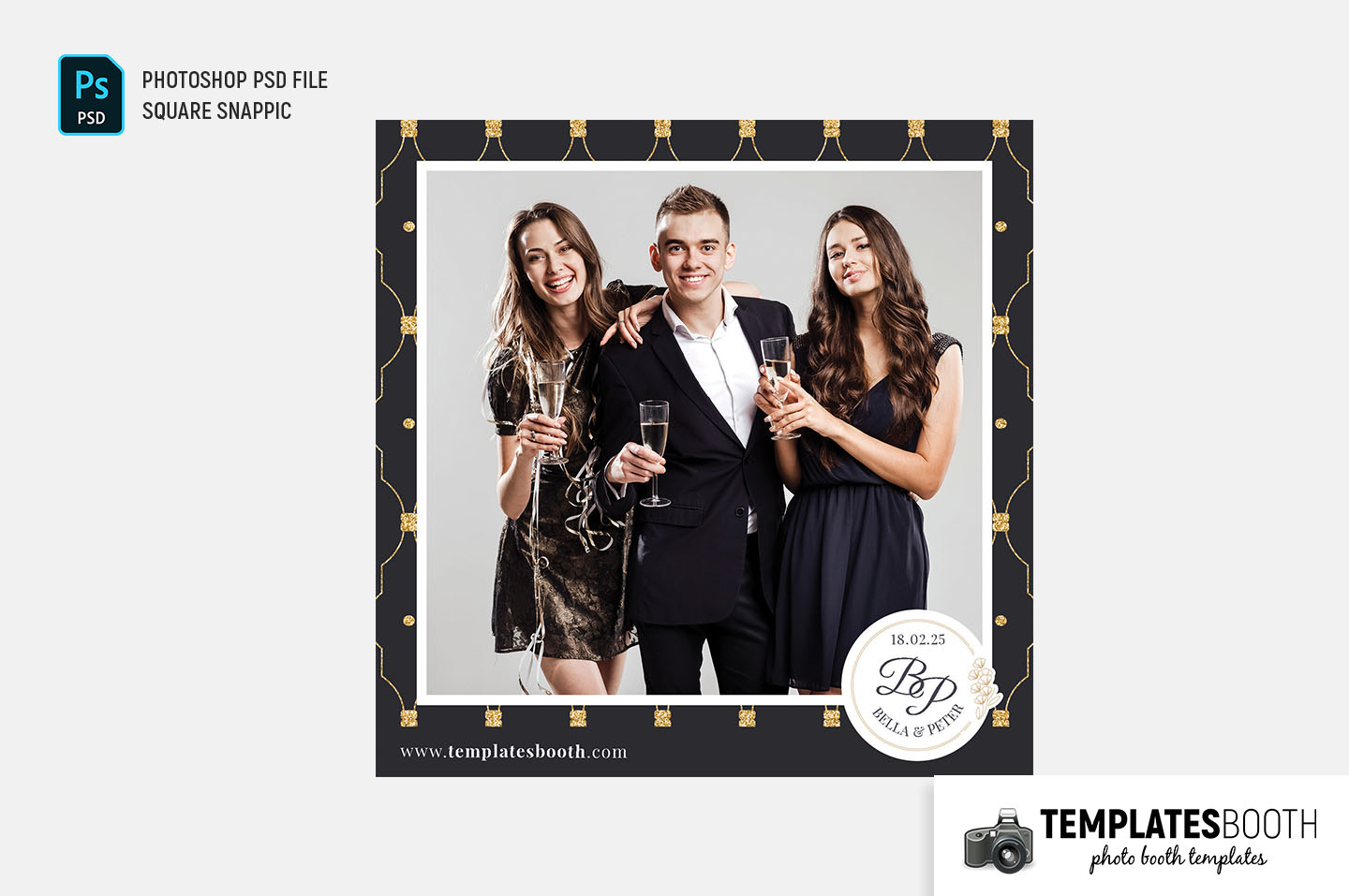 Deco Wedding Photo Booth Template