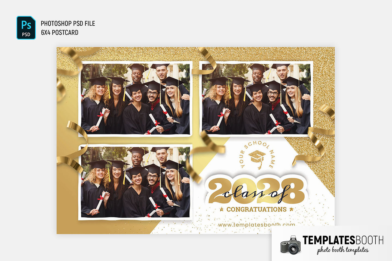 Graduation Celebration Photo Booth Template