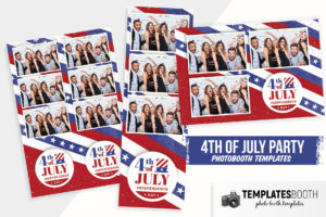4th July Photo Booth Template