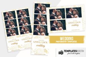 Minimal Art Deco Wedding Photo Booth Template